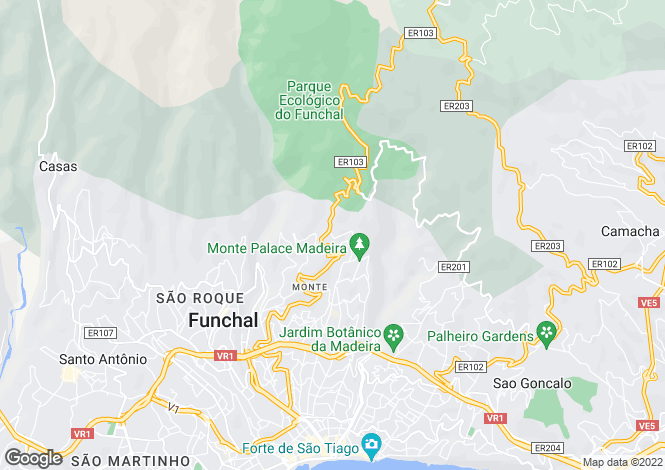 Map for Madeira, Funchal