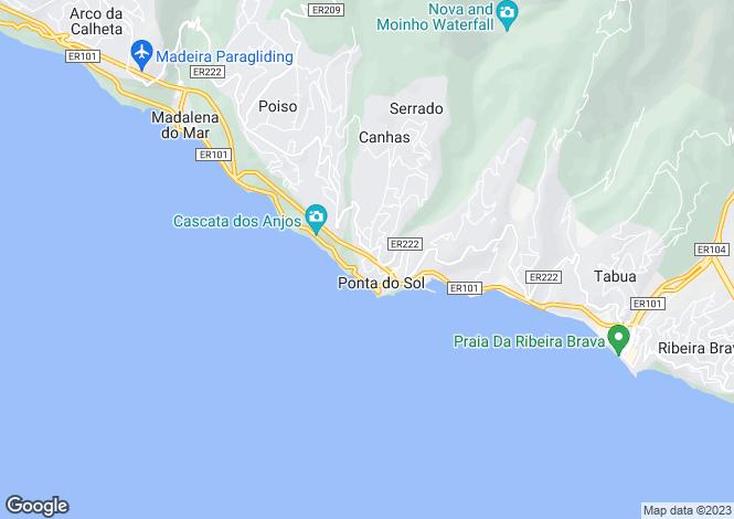 Map for Madeira, Ponta Sol