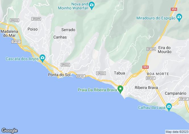 Map for Madeira, Ribeira Brava