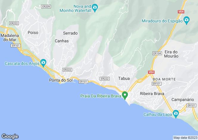 Map for Ribeira Brava, Madeira