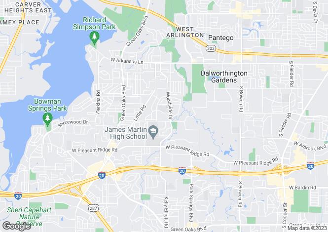 Map for USA - Texas, Tarrant County, Arlington