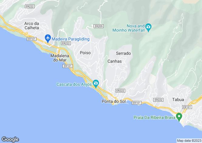 Map for Canhas, Ponta do Sol, Madeira