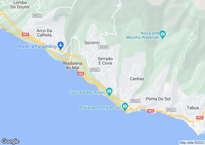 Map for Madeira, Ponta Sol