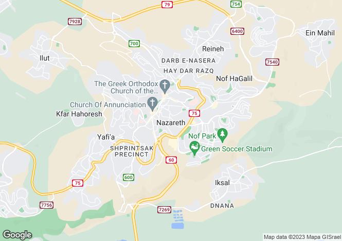 Map for Nazaret, Lanzarote, Spain