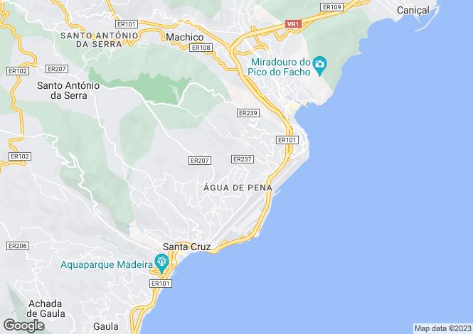 Map for Água de Pena, Machico, Madeira