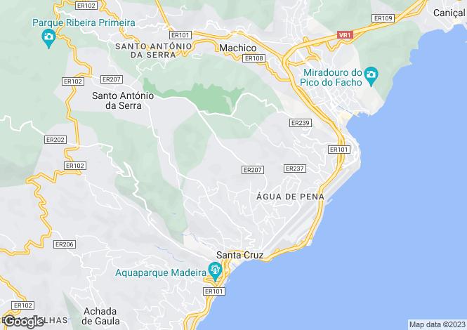 Map for Madeira, Santa Cruz