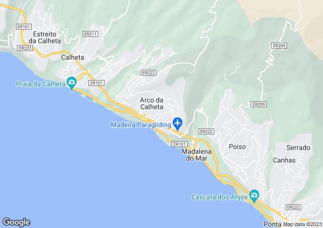 Map for Madeira, Calheta, Arco Da Calheta