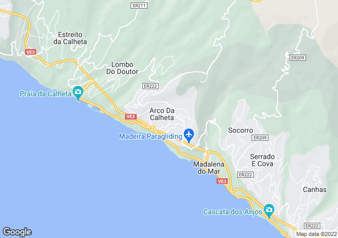 Map for Madeira, Calheta, Arco Da Calheta