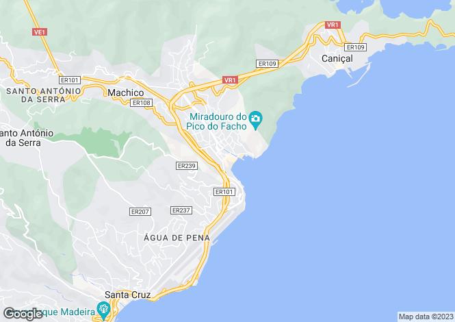 Map for Madeira, Machico