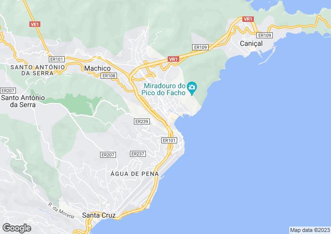 Map for Água de Pena, Machico
