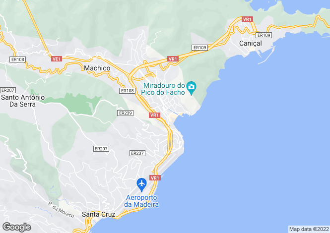 Map for Machico, Machico