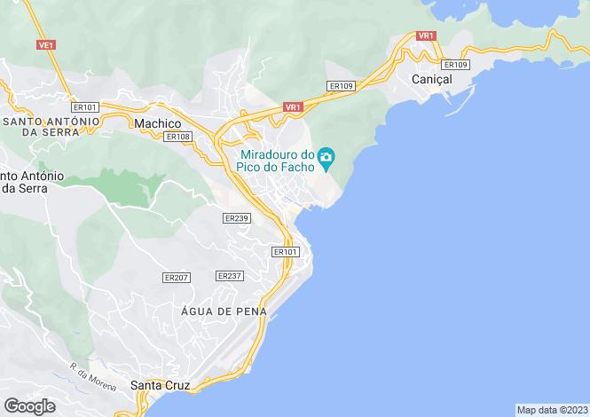 Map for Machico, Machico, Madeira
