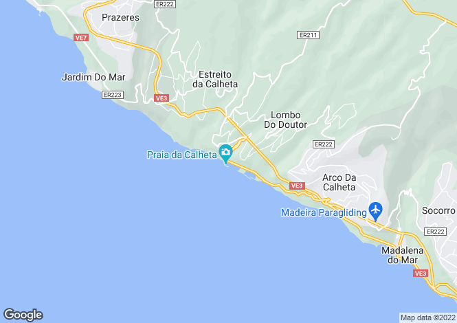 Map for Madeira, Calheta, Calheta