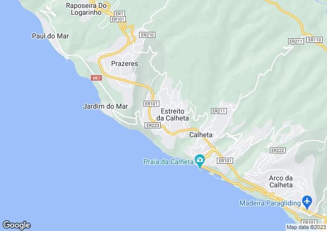 Map for Estreito da Calheta, Calheta (Madeira), Madeira