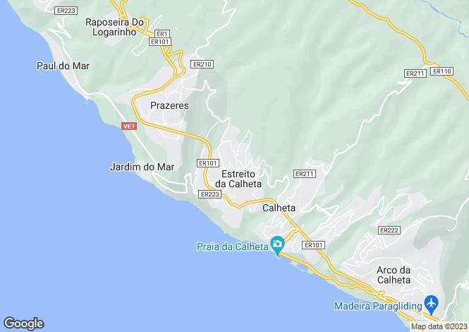 Map for Estreito Da Calheta, Calheta, Madeira