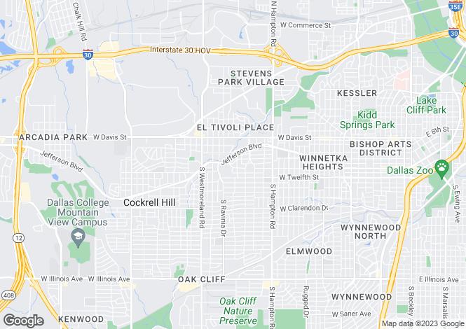 Map for USA - Texas, Dallas County, Dallas