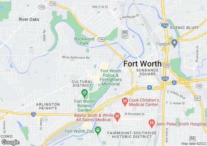 Map for USA - Texas, Tarrant County, Fort Worth