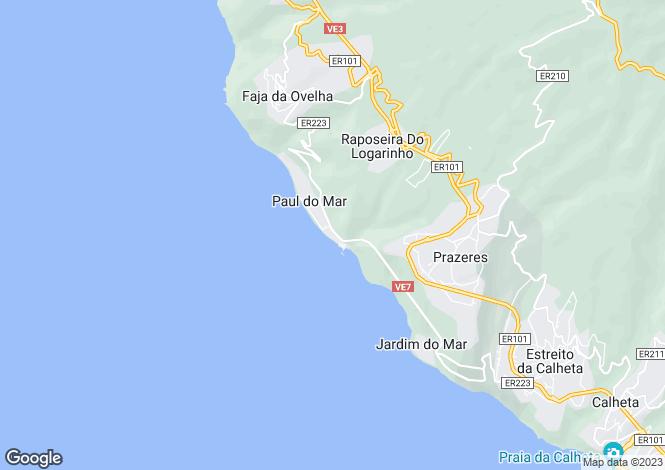 Map for Paul do Mar, Calheta (Madeira), Madeira