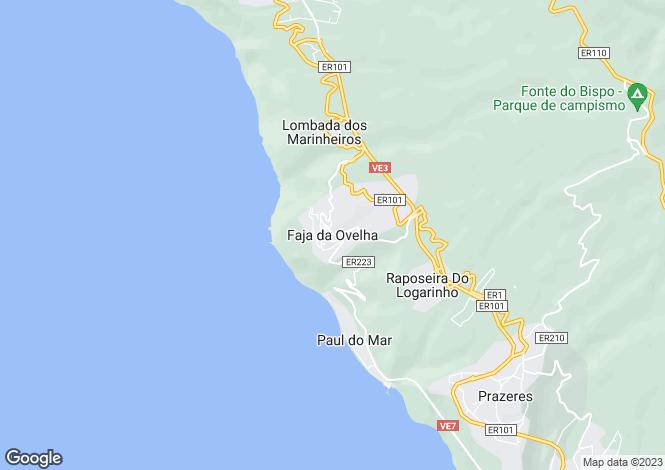 Map for Faja Da Ovelha, Calheta, Madeira