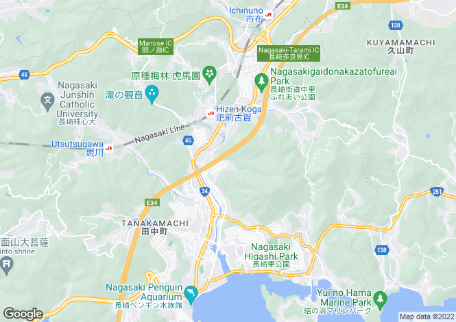 Map for Nagasaki