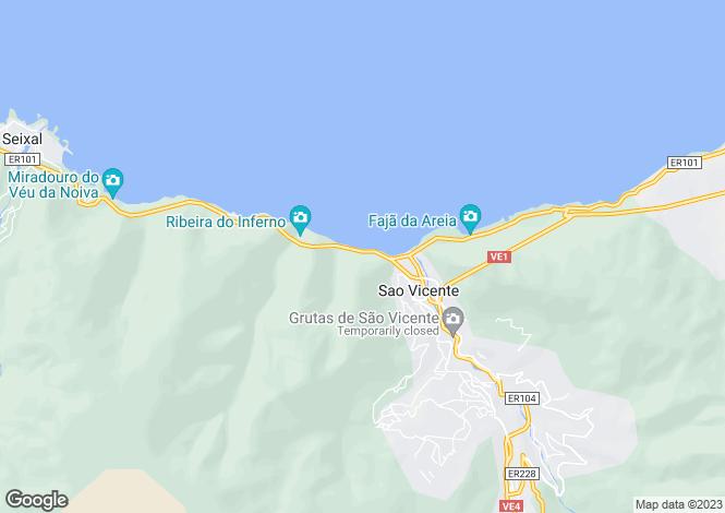 Map for Madeira, Sao Vicente
