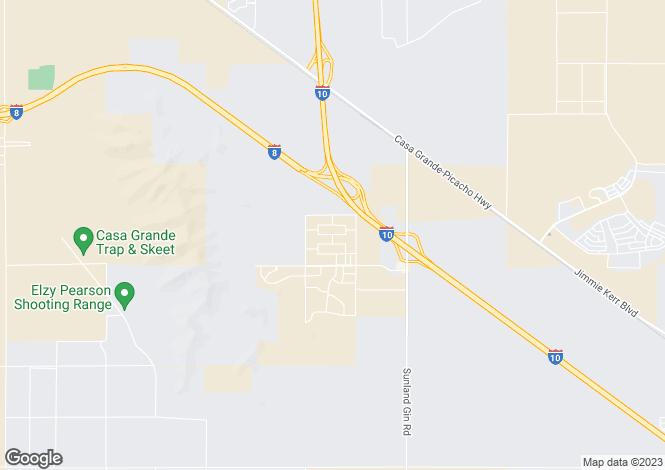 Map for Arizona, Pinal County, Casa Grande