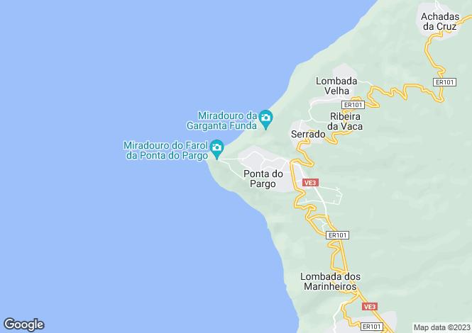 Map for Portugal,Arquipélago da Madeira,Ponta Do Pargo