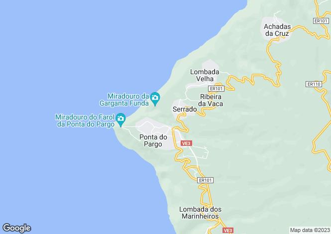 Map for Madeira, Calheta, Ponta Do Pargo
