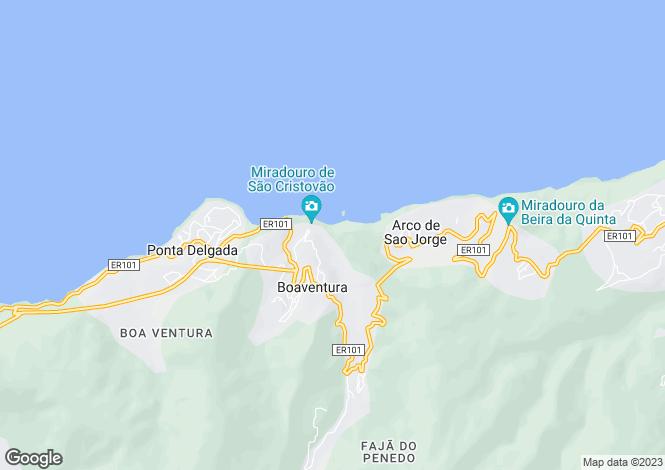Map for Concelho De Santana, Madeira