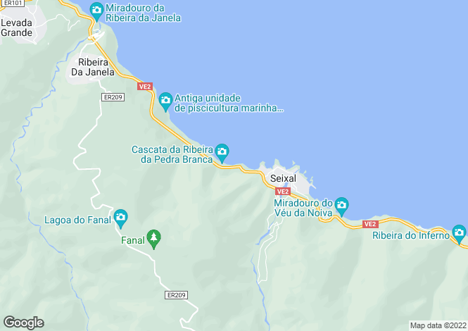 Map for Madeira, Porto Moniz