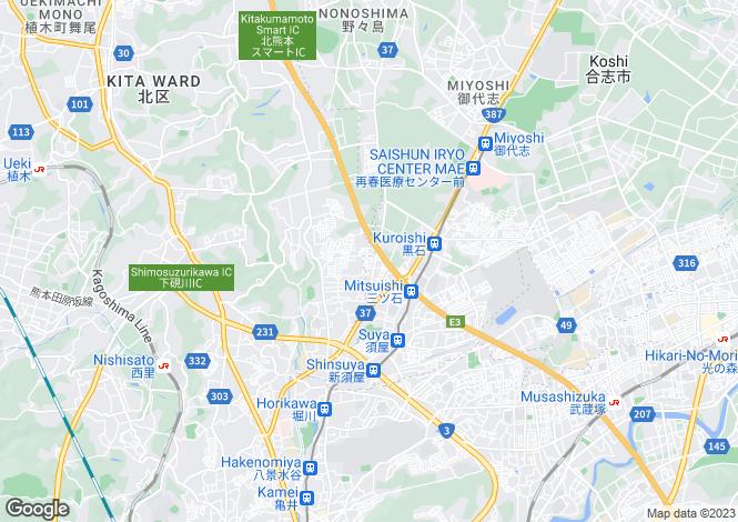 Map for Kumamoto