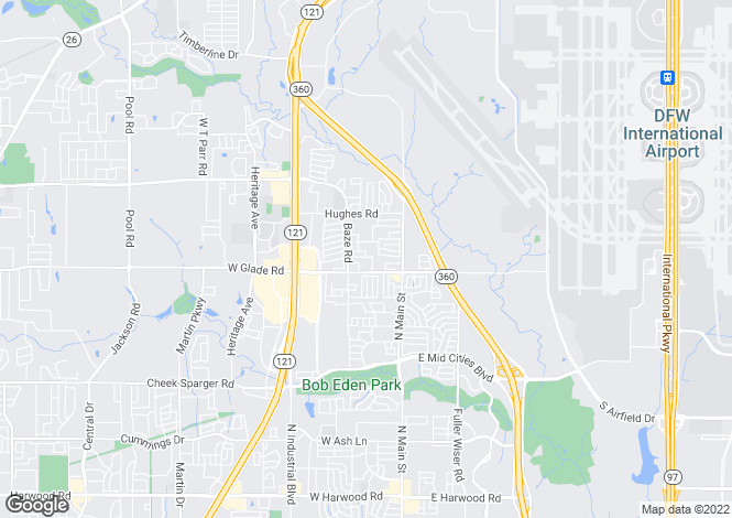 Map for USA - Texas, Tarrant County, Grapevine
