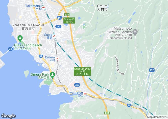 Map for Nagasaki
