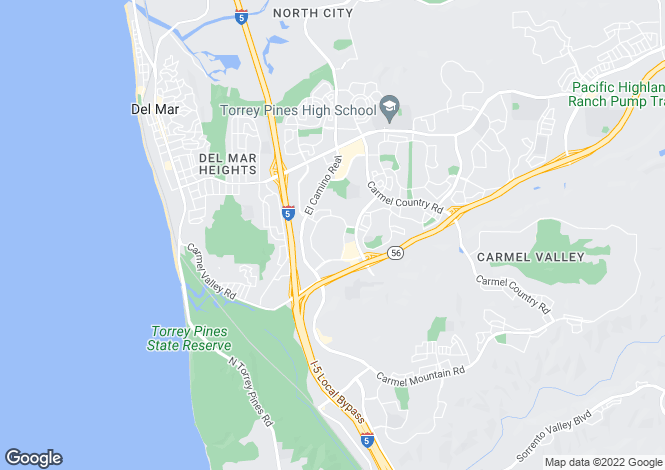 Map for USA - California, San Diego County, San Diego
