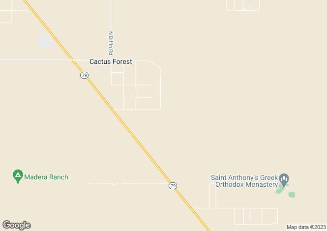 Map for Arizona, Pinal County, Florence