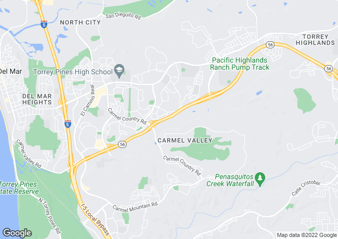 Map for USA - California, San Diego County, San Diego