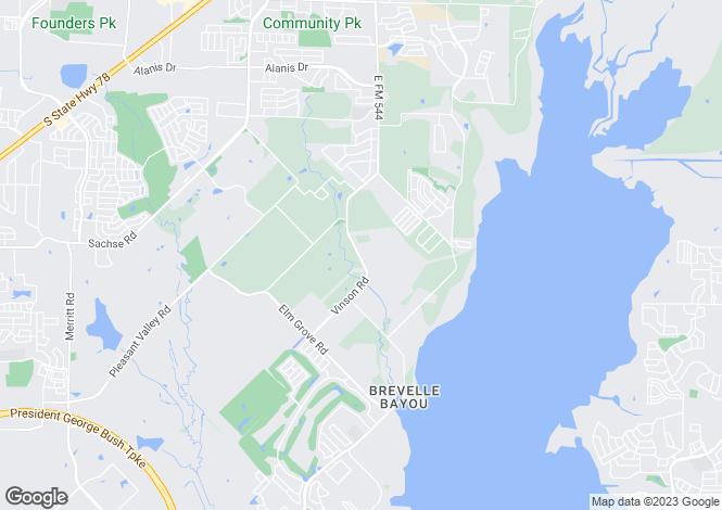 Map for Texas, Dallas County, Rowlett