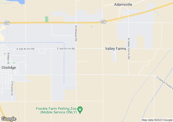 Map for Arizona, Pinal County, Coolidge