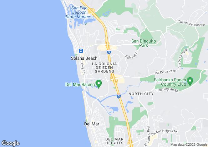 Map for USA - California, San Diego County, Solana Beach