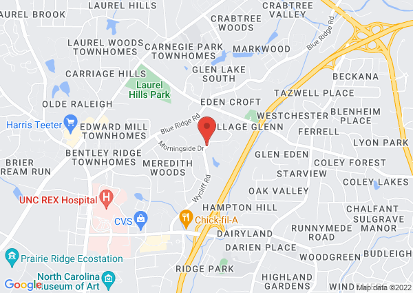 Map of 3250 Morningside Drive, Raleigh, NC 27607, USA