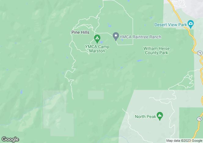 Map for USA - California, San Diego County, Julian