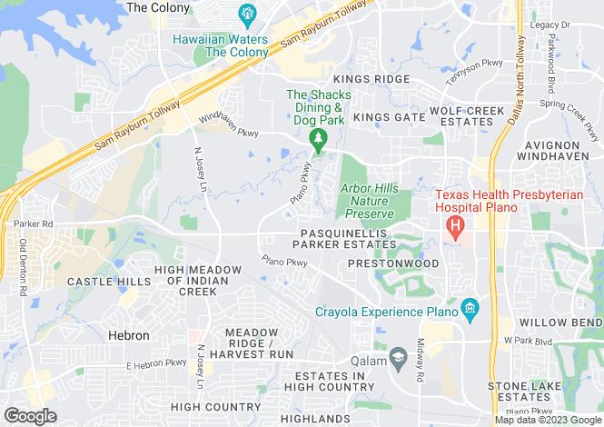 Map for Texas, Dallas County, Carrollton