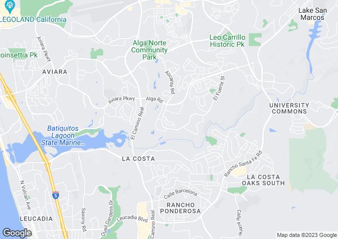 Map for California, San Diego County, Carlsbad