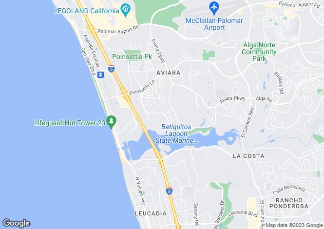 Map for USA - California, San Diego County, Carlsbad