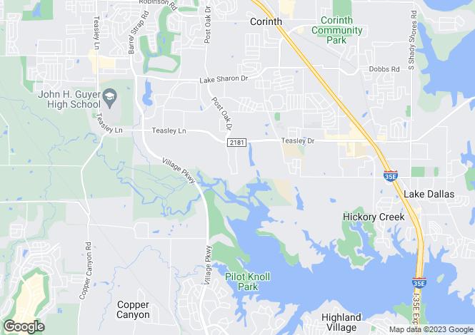 Map for Texas, Jones County, Corinth
