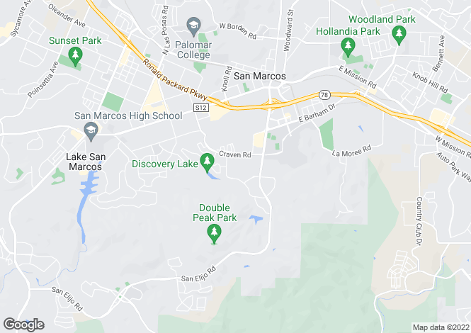 Map for California, San Diego County, San Marcos