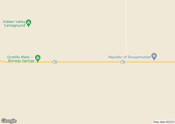 Map for California, San Diego County, Julian