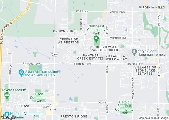 Map for USA - Texas, Collin County, Frisco