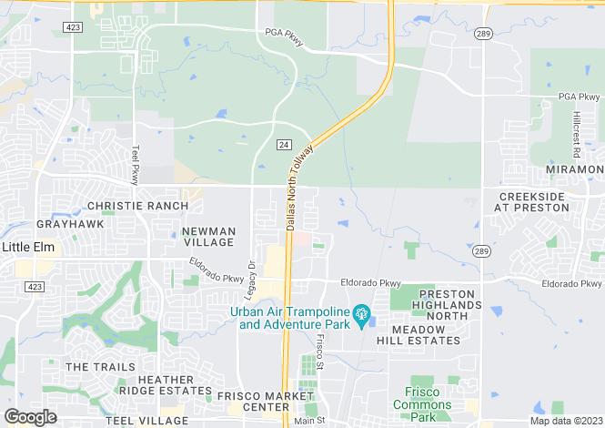 Map for Texas, Collin County, Frisco
