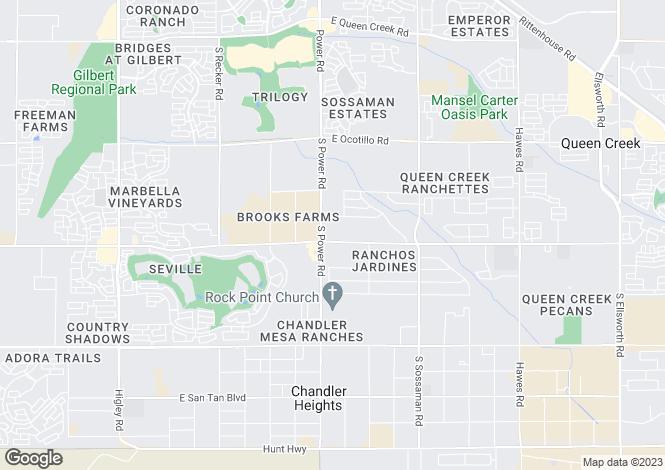 Map for Arizona, Maricopa County, Queen Creek